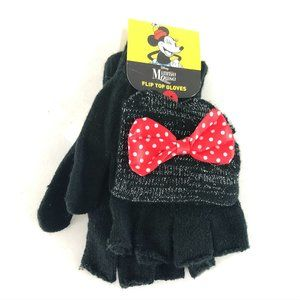Disney Minnie Mouse Kids Girls Flip Top Gloves
